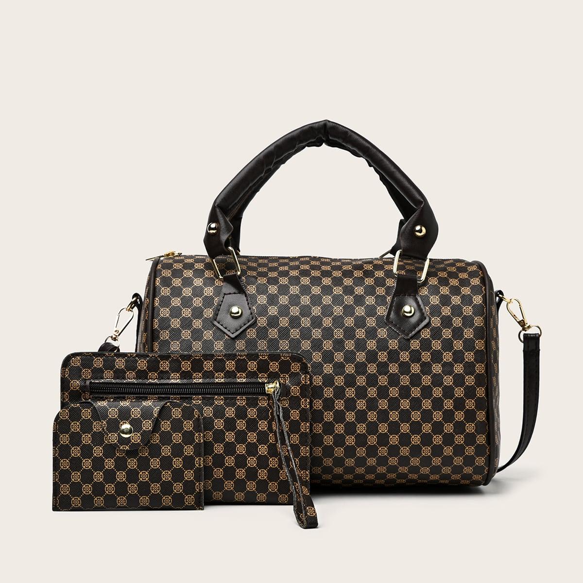 двойная ручка Геометрический принт Модный Набор сумок по цене 710