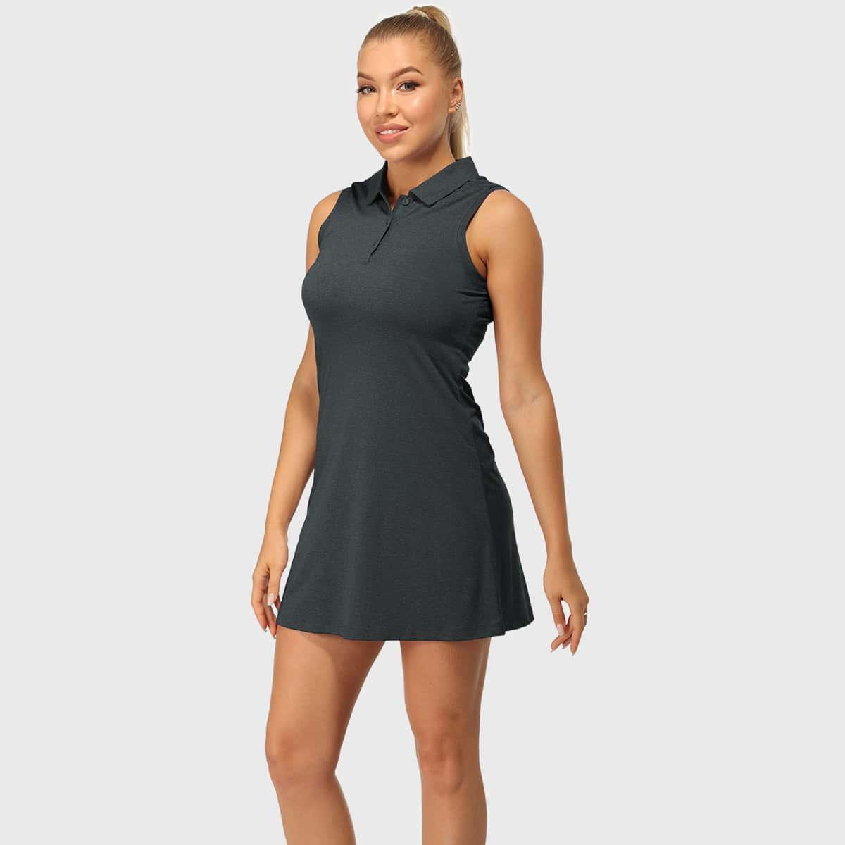 Пуговица графический принт Спортивный Платье SheIn swdress42210311472