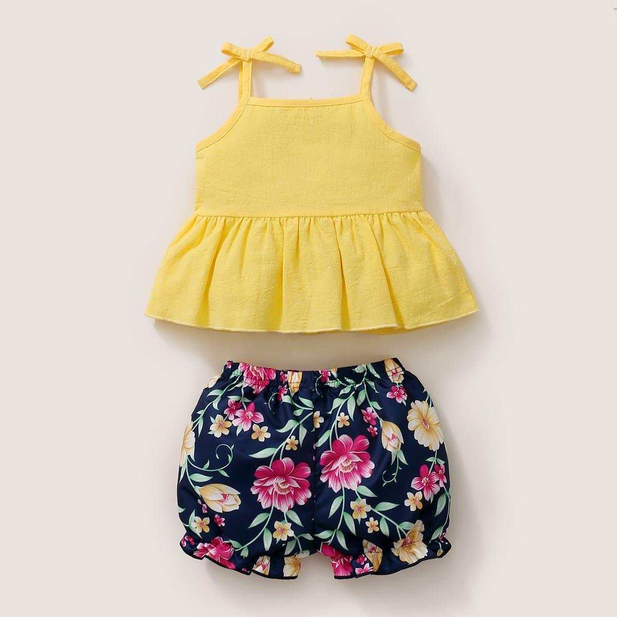 SHEIN Boho Bloemen Baby-setjes Boog