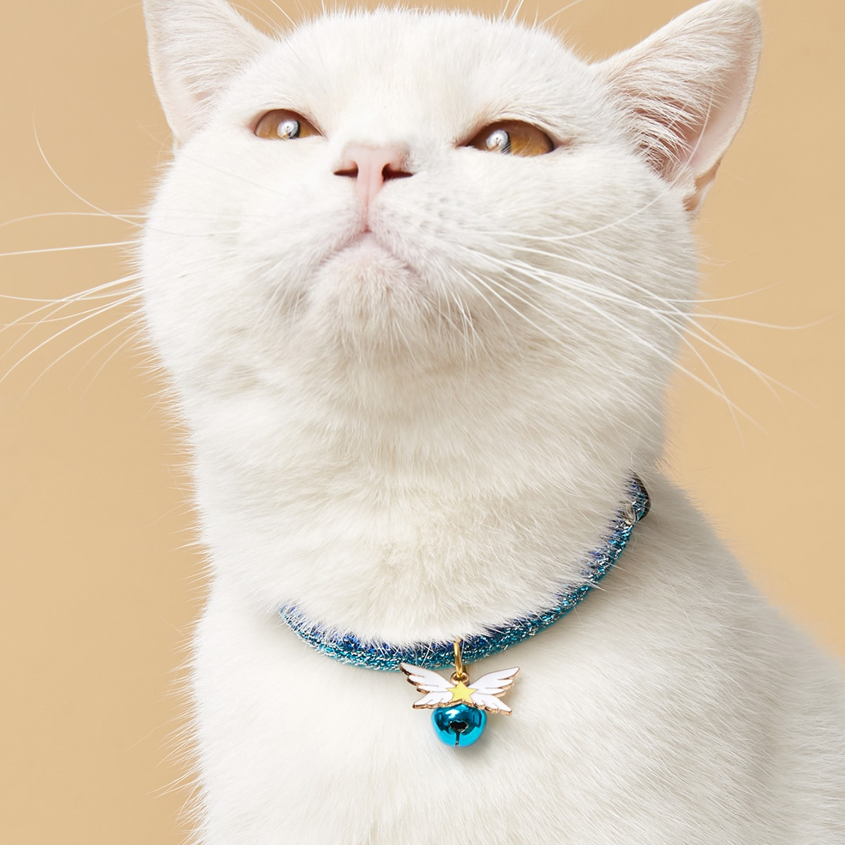 Wing Pendant Bell Pet Necklace