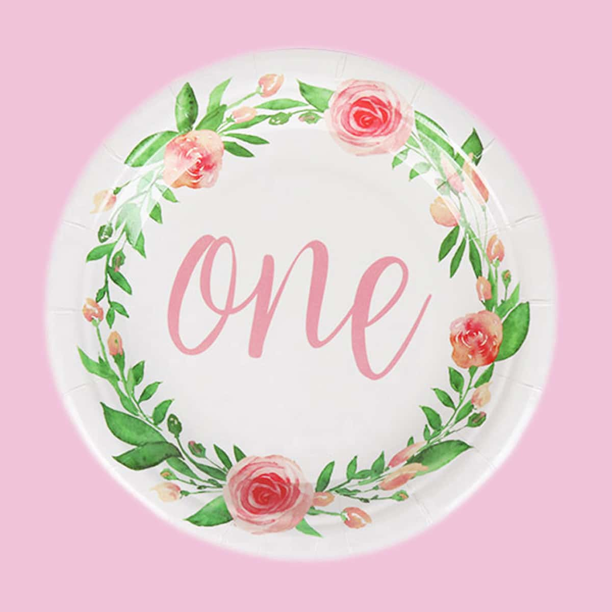 Со цветочками Одноразовая посуда