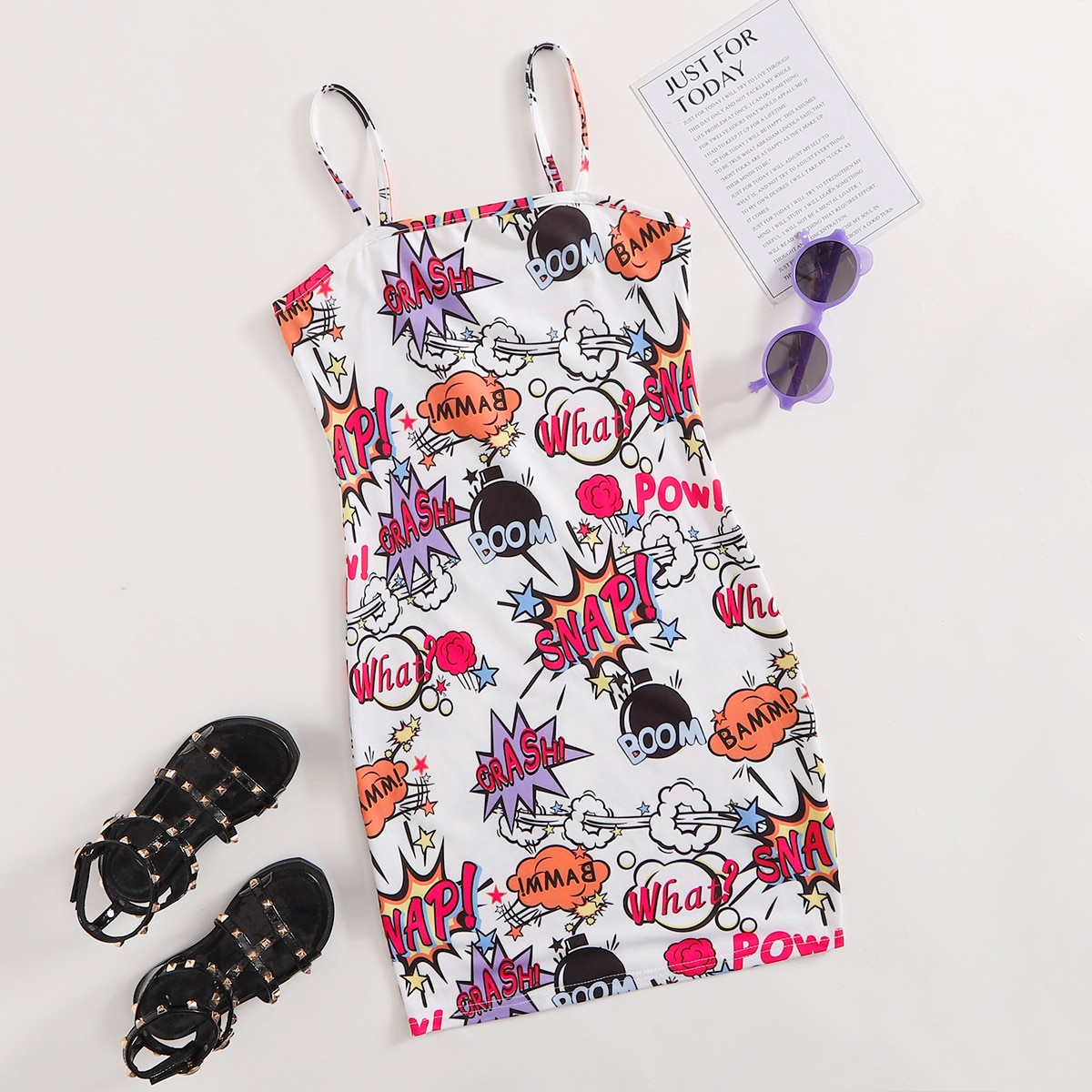 Kleid mit Pop Art Muster