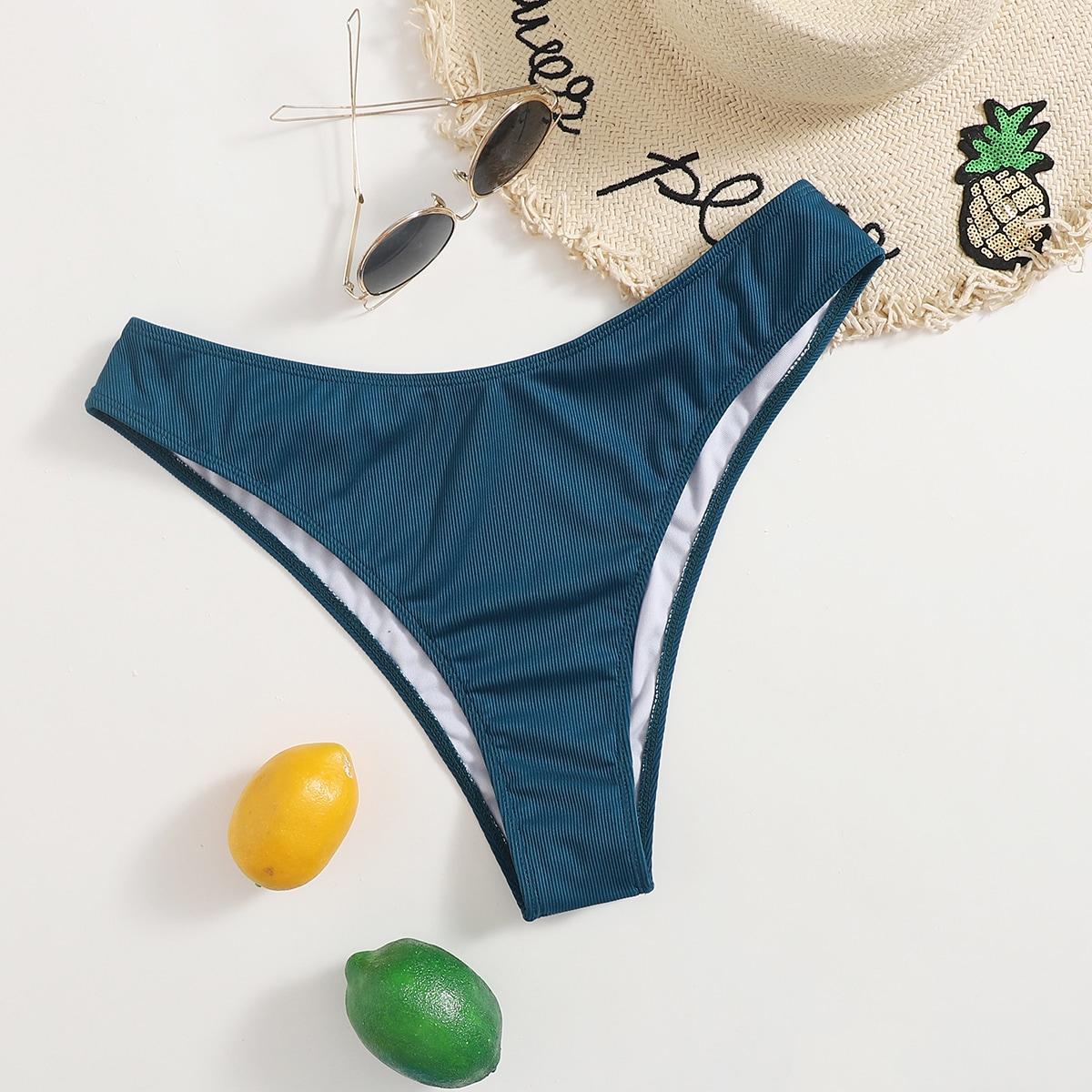 SHEIN Sexy Vlak Grote maat bikini bottom