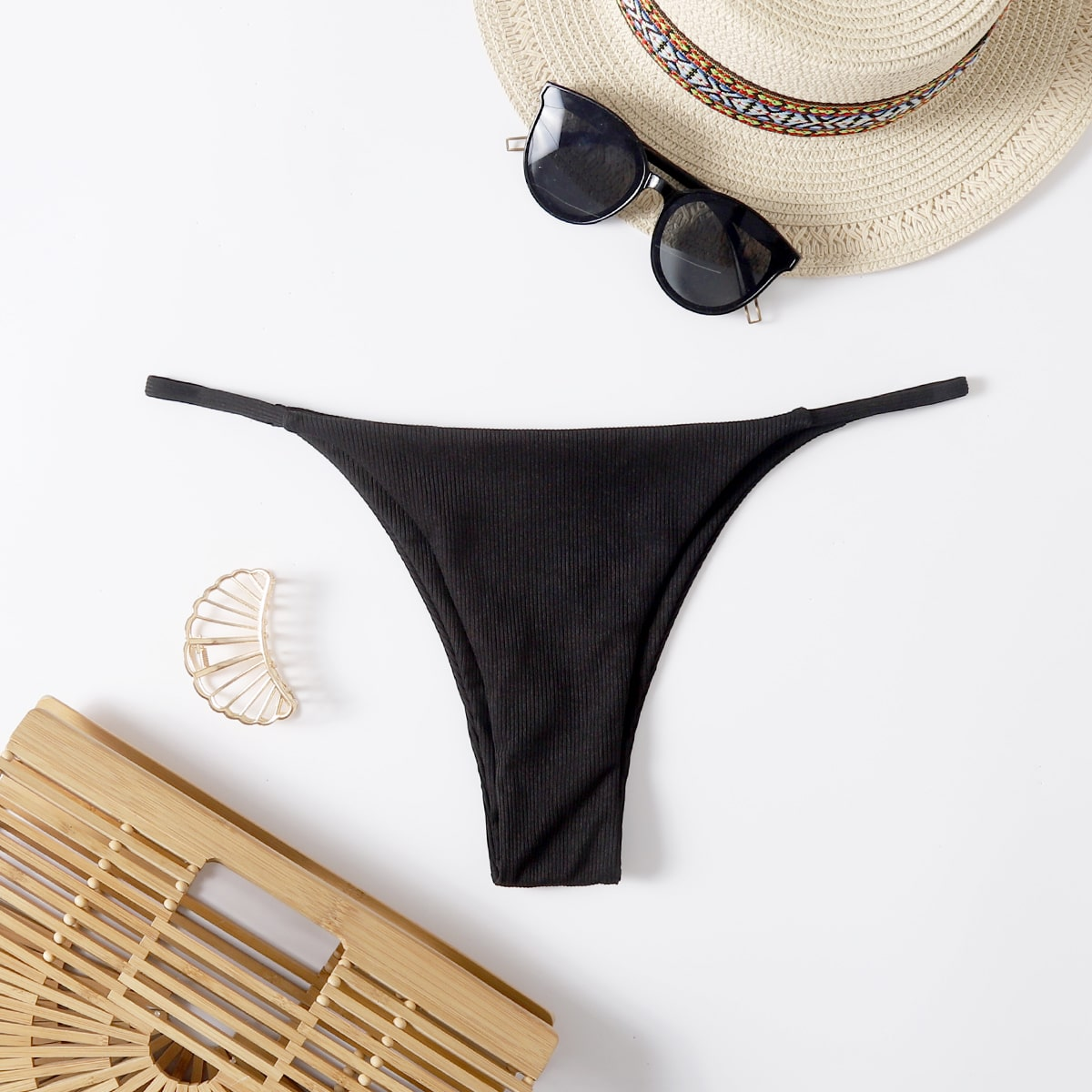 SHEIN Sexy Vlak Bikini bottom