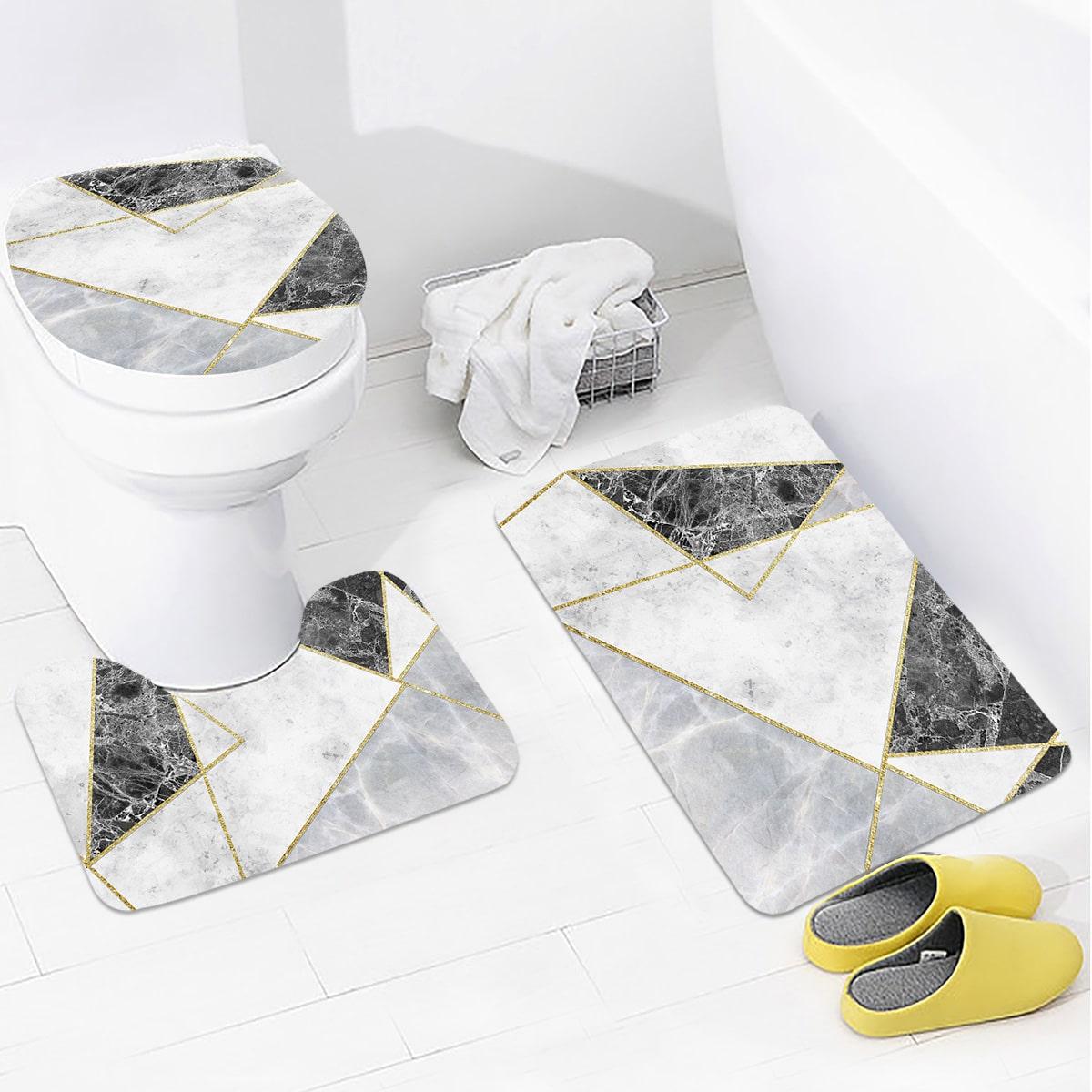 1 Stück Closestool Teppich mit geometrischem Muster