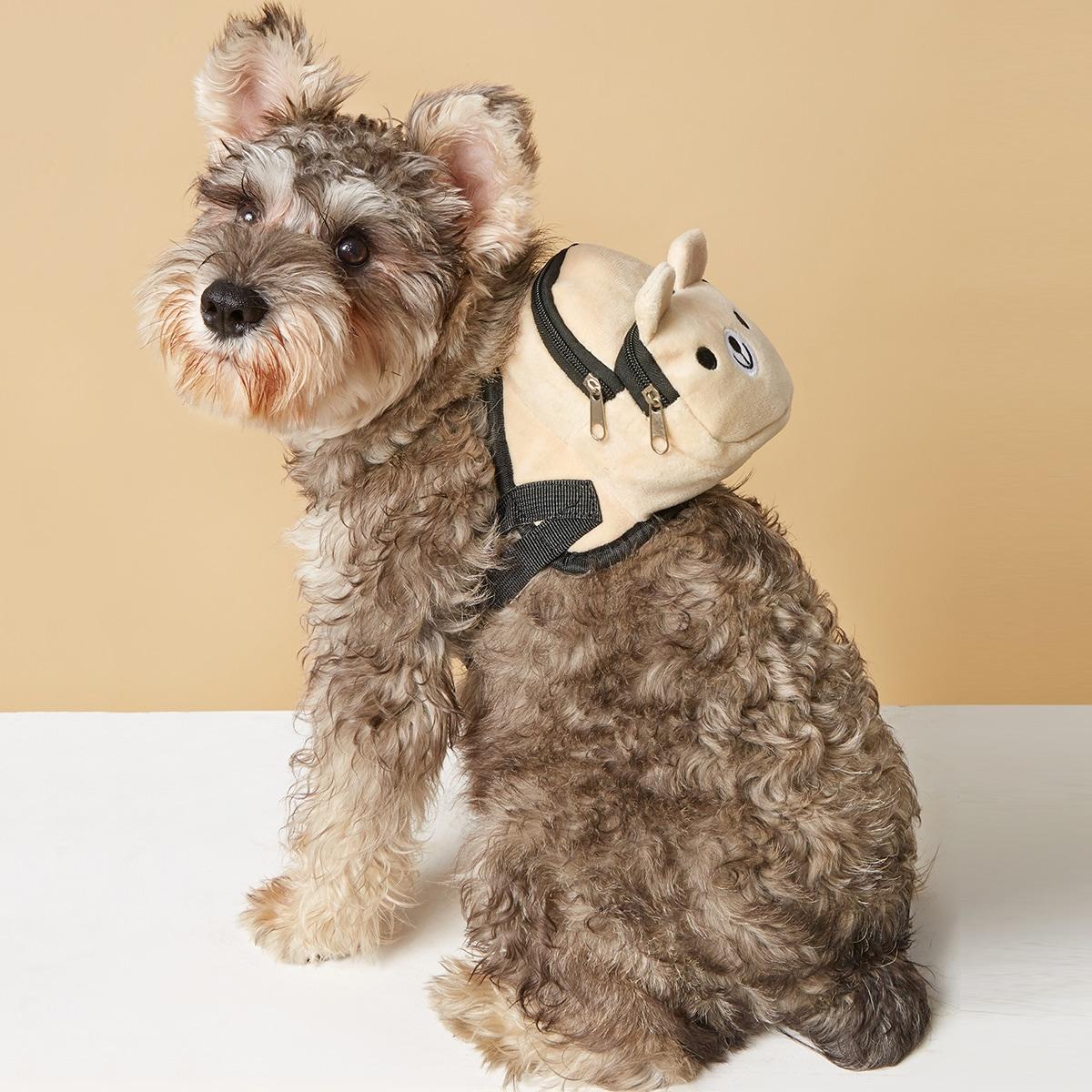 1 Stück Haustier Rucksack mit Karikatur Bären Dekor