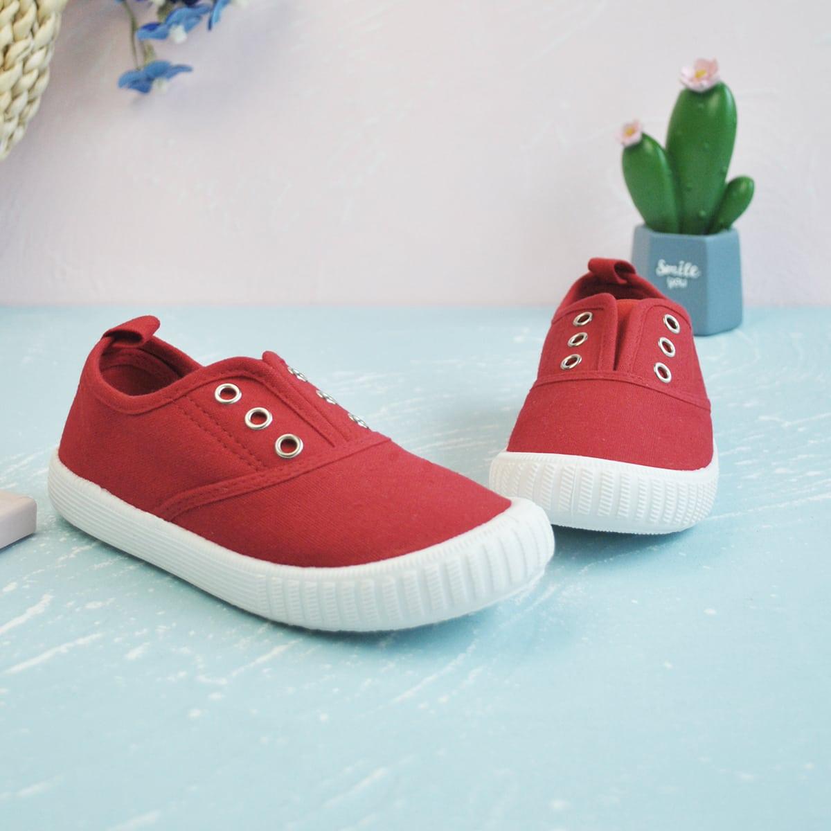 Холщовые туфли без шнуровки для девочек от SHEIN