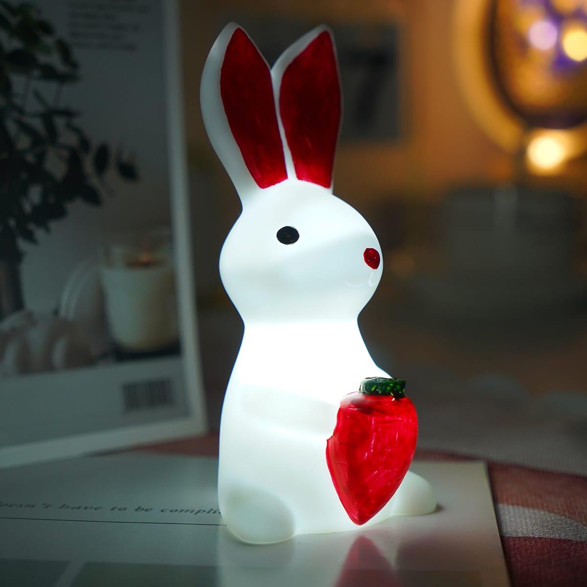 1шт пасхальный светильник в форме кролика