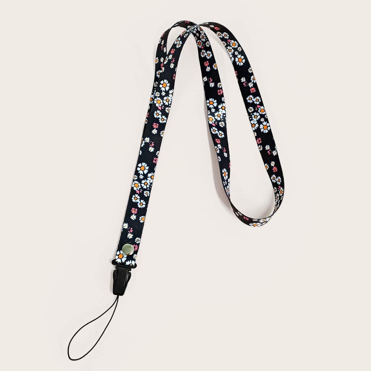 Шнурок для телефона с цветочным узором