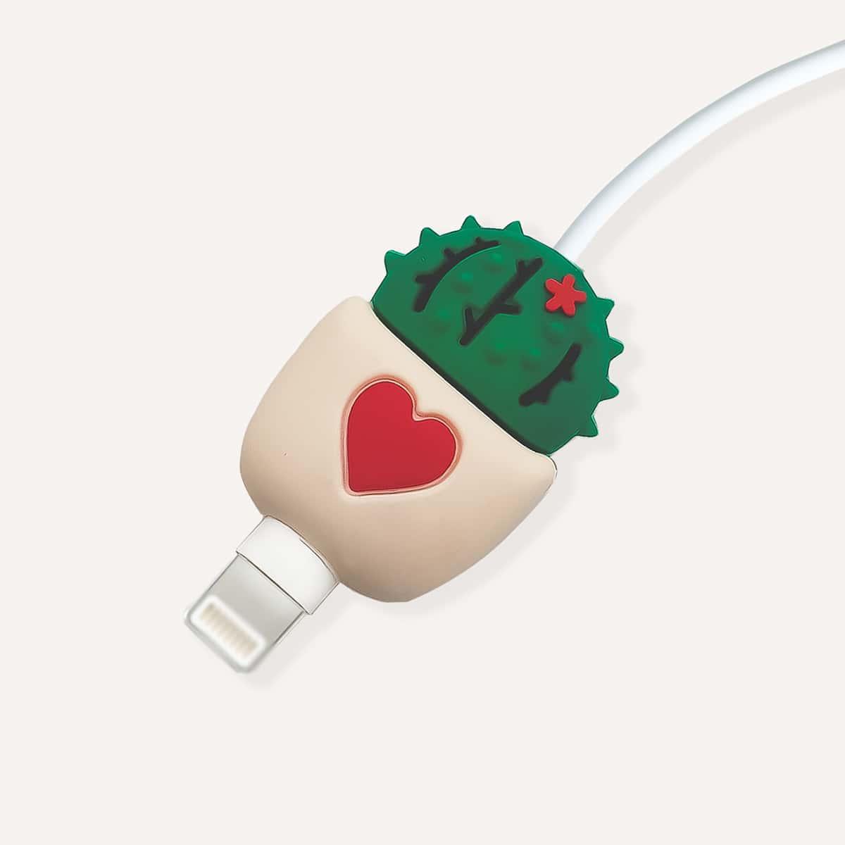 Силиконовый протектор для кабеля передачи данных в форме кактуса