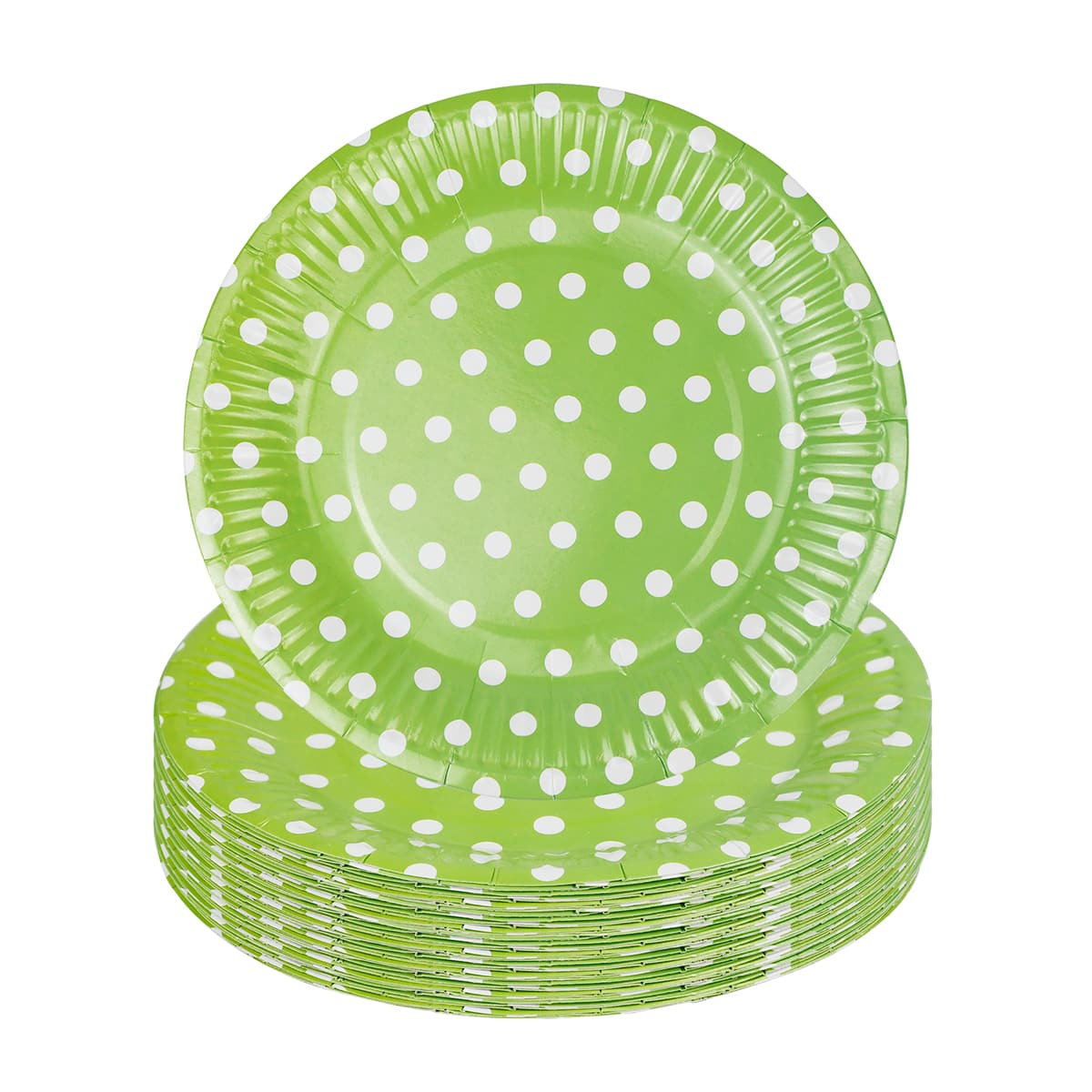 10шт одноразовая тарелка в горошек