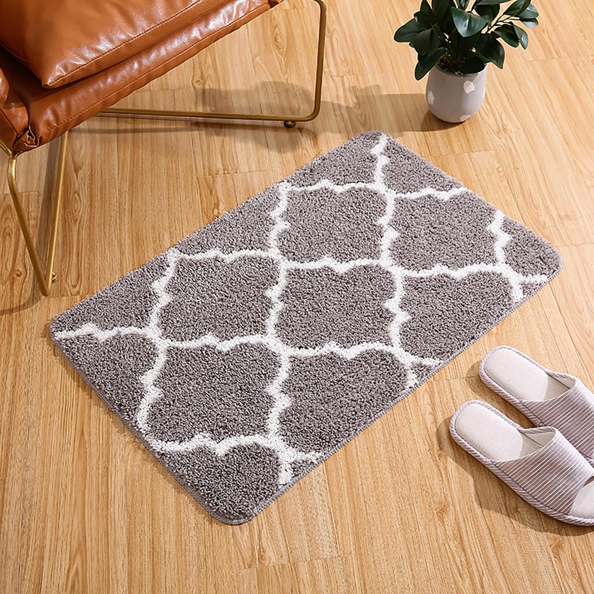 Bodenmatte mit Geometrie Muster