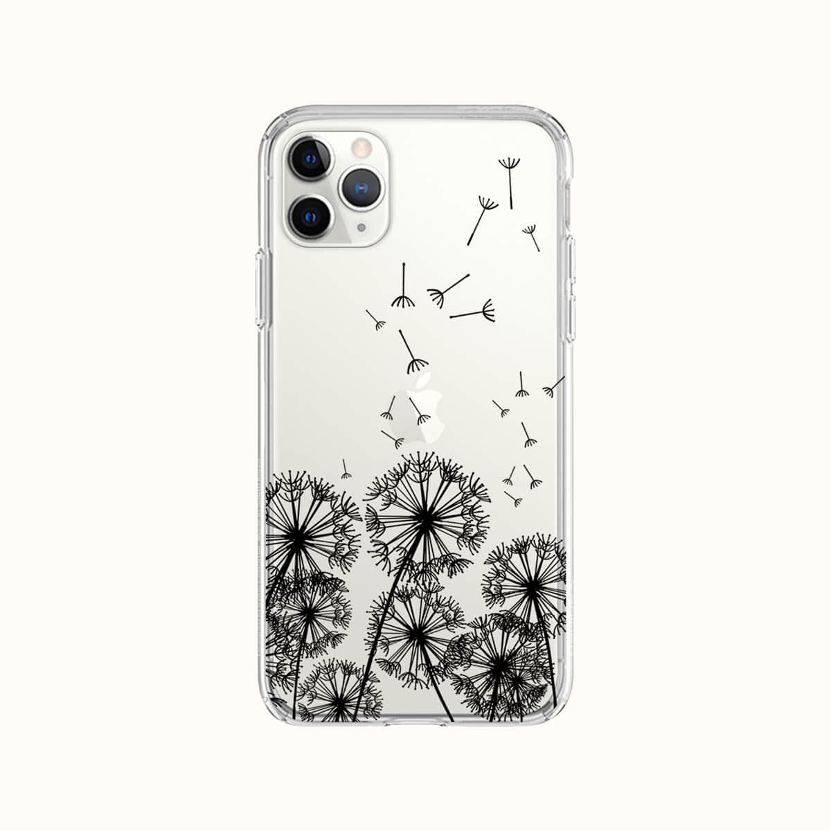 Dandelion Clear Phone Case