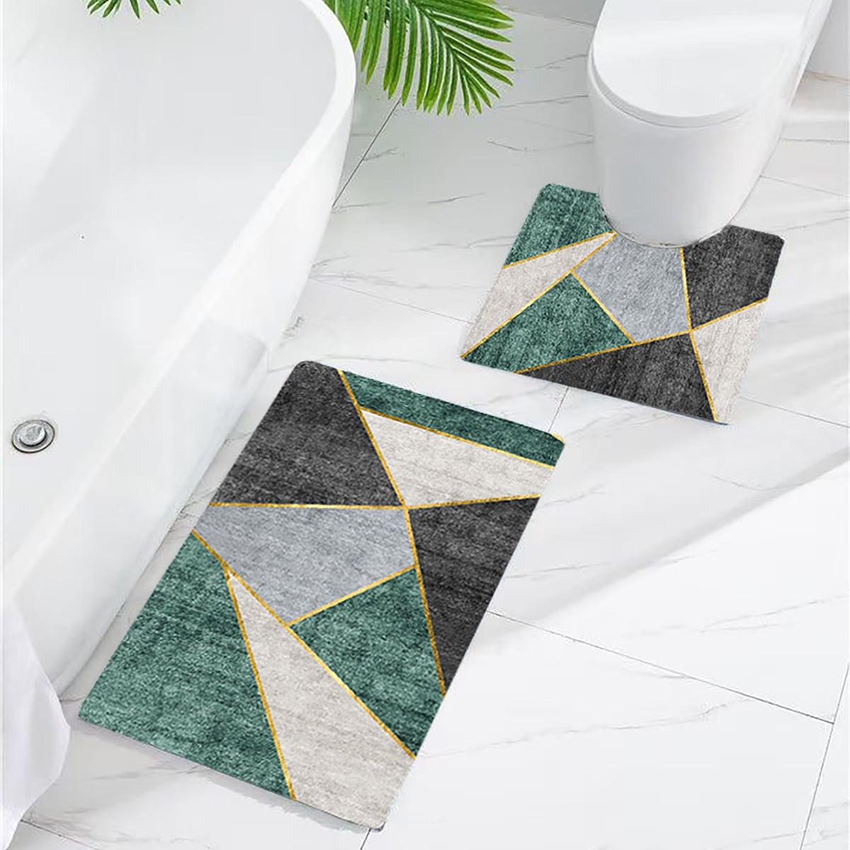 1 Stück Rutschfeste Badematte mit Geometrie Muster