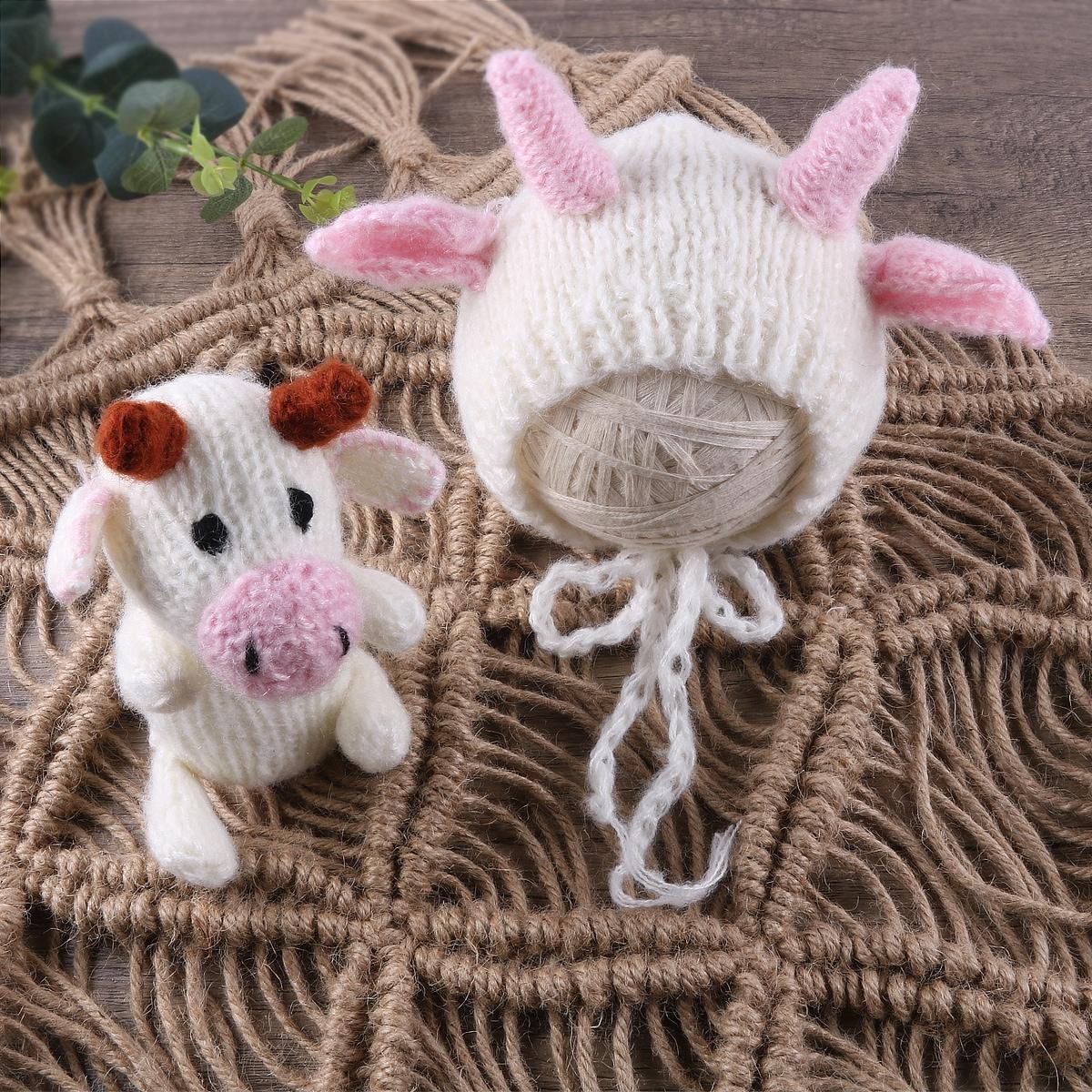 Кукла и шапка в форме 3D для фотографии новорожденных