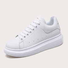 Guys Lace-up Front Perforated Skate Shoes