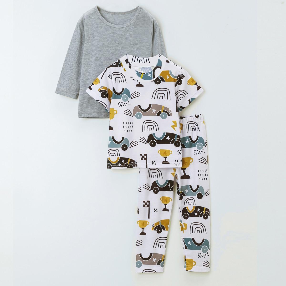 Пижама с принтом для мальчиков 3шт