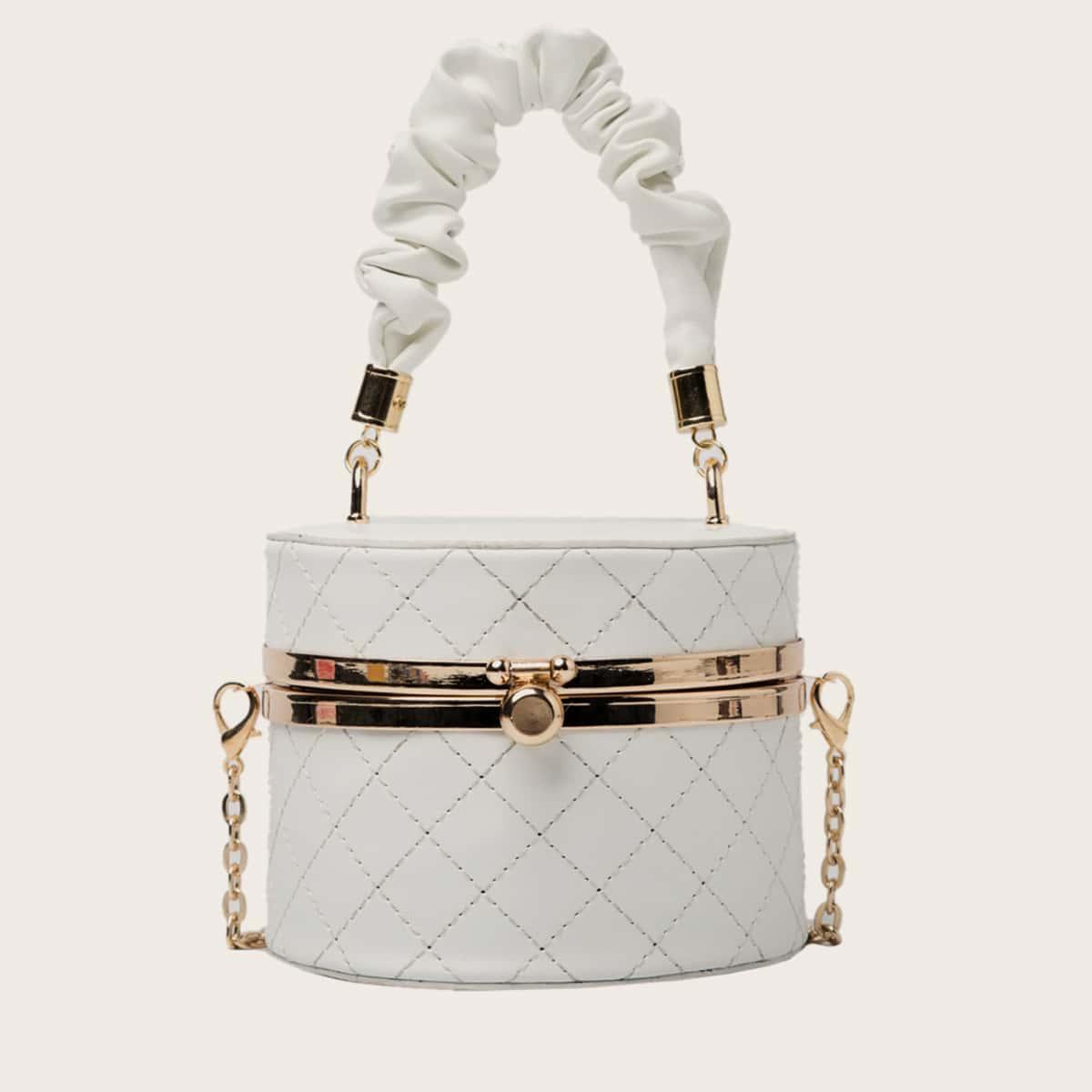 SHEIN / Mini Ruched Handle Box Bag