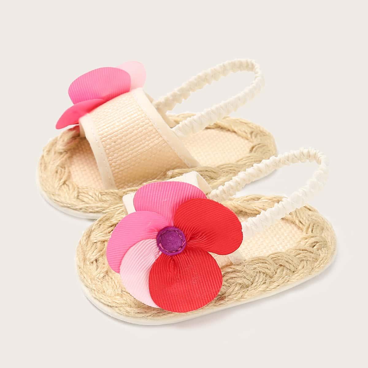 Сандалии с цветком для девочек SheIn skshoes03210317510