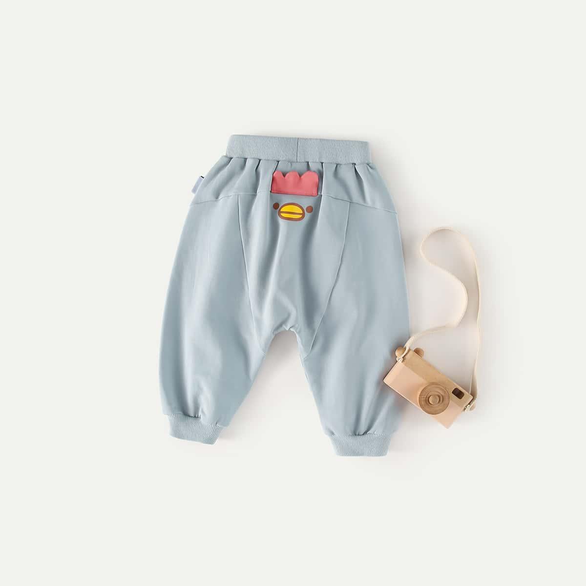 с карманами Мультяшный принт Низ для малышей