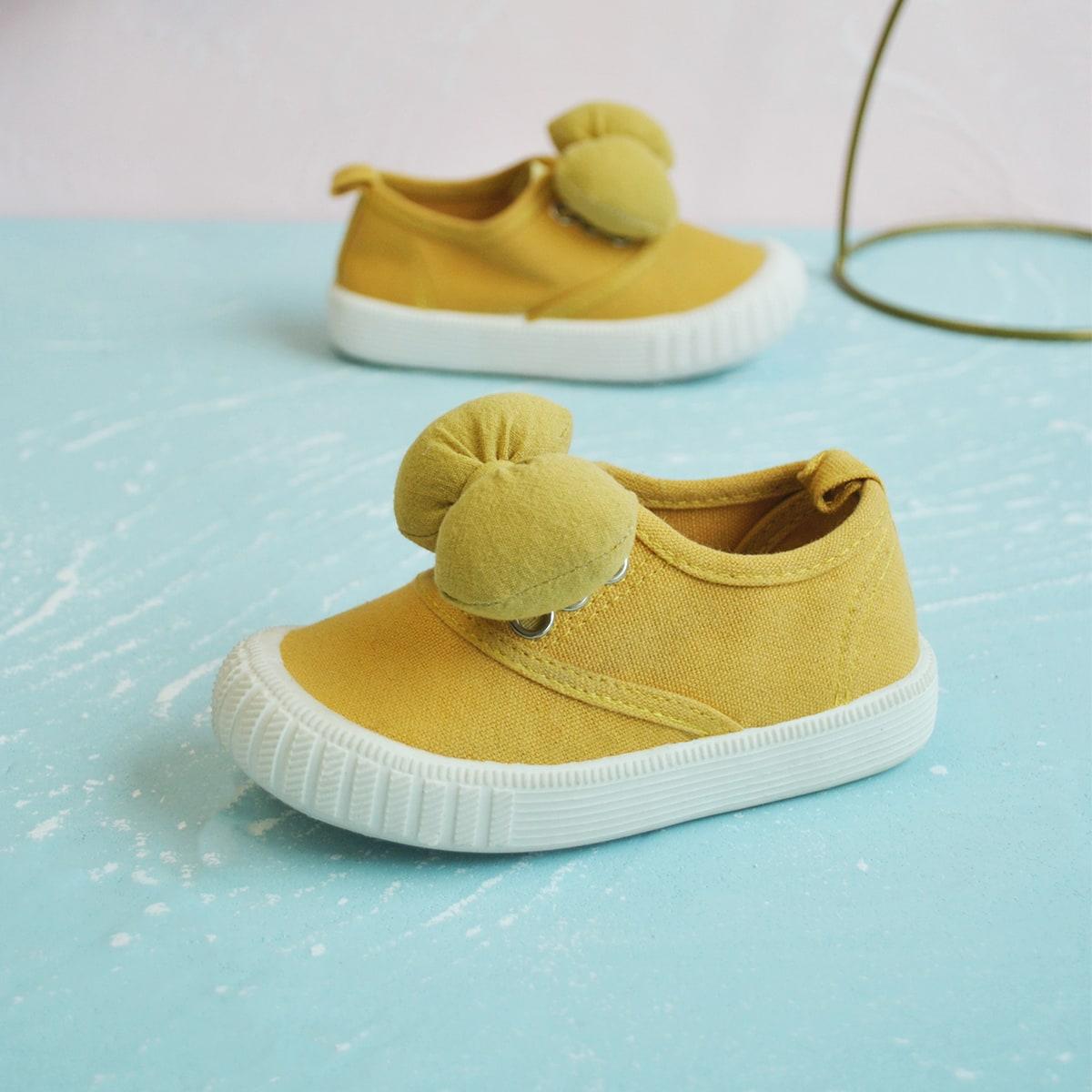 Холщовые туфли с бантом для девочек от SHEIN