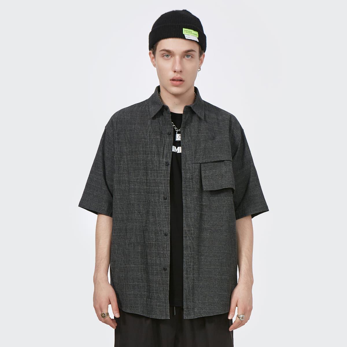 Карман Одноцветный Улица Мужские рубашки по цене 2 690