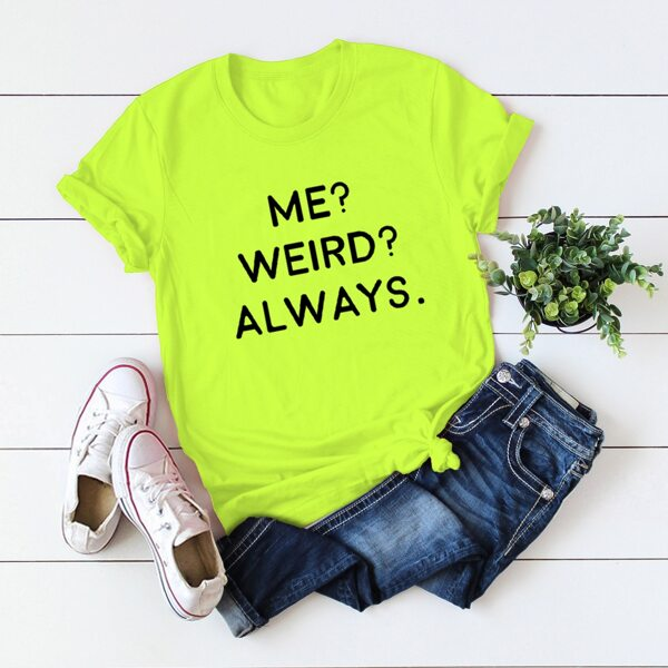 Neon Lime Slogan Graphic Round Neck Tee, Neon lime green