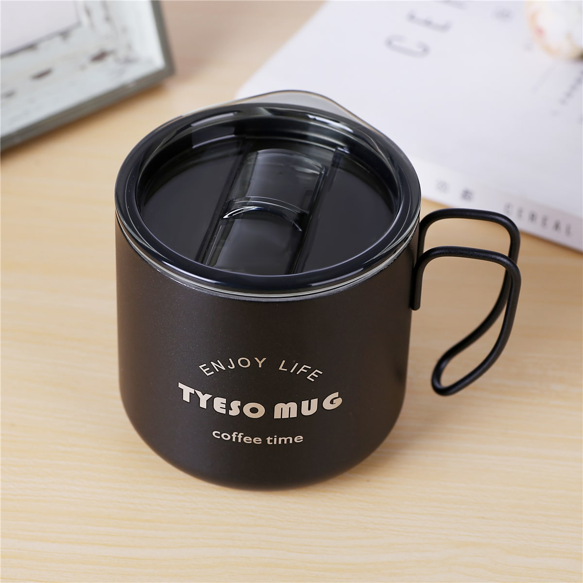 1Pc Slogan Graphic Coffee Cup