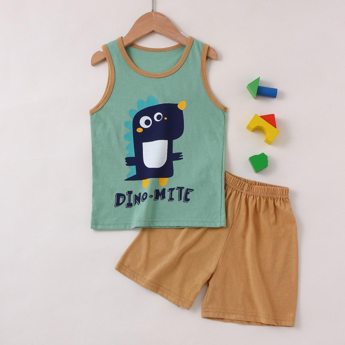Пижама с принтом динозавров для мальчиков
