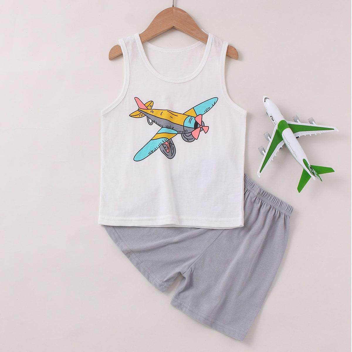 Пижама с принтом планеты для мальчиков