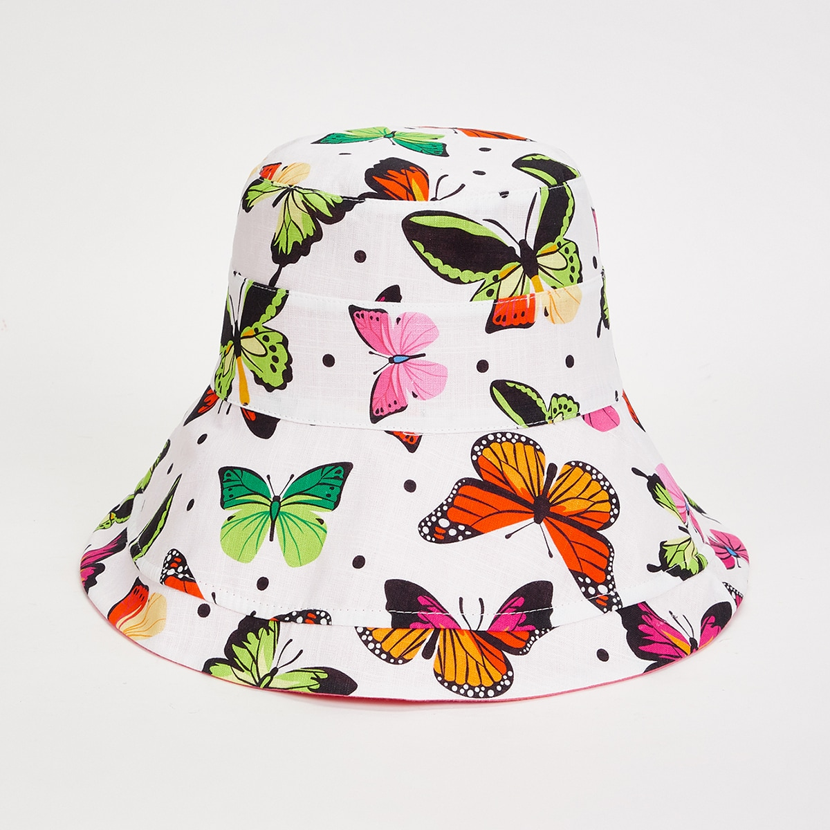 Шляпа-ведро с принтом бабочек