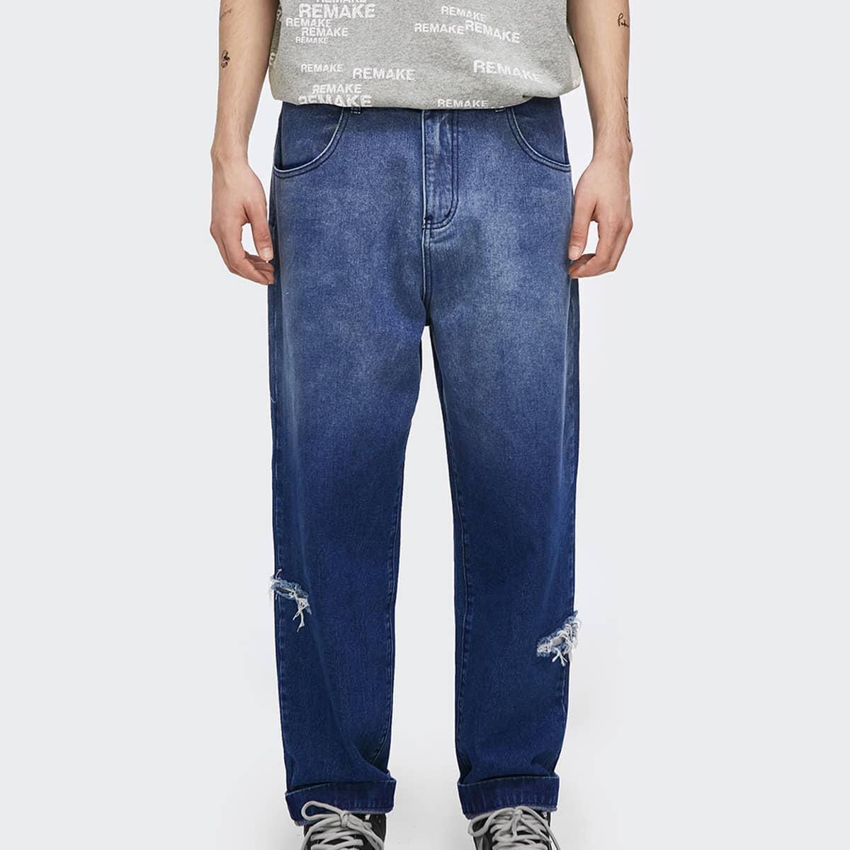 Пугавица градиент цветовой Мужские джинсы