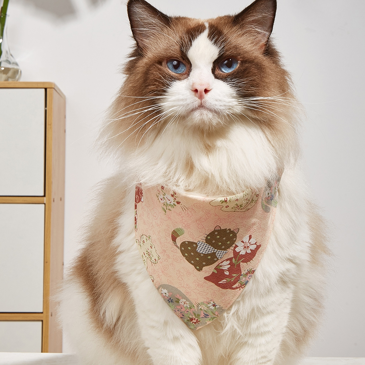 Cat Print Pet Bandana