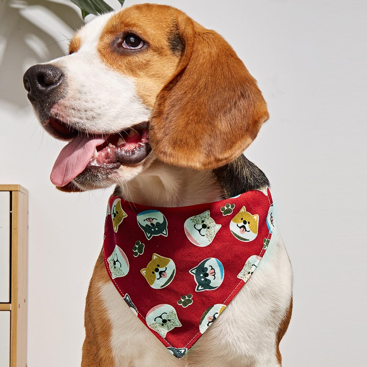 Dog Print Pet Bandana