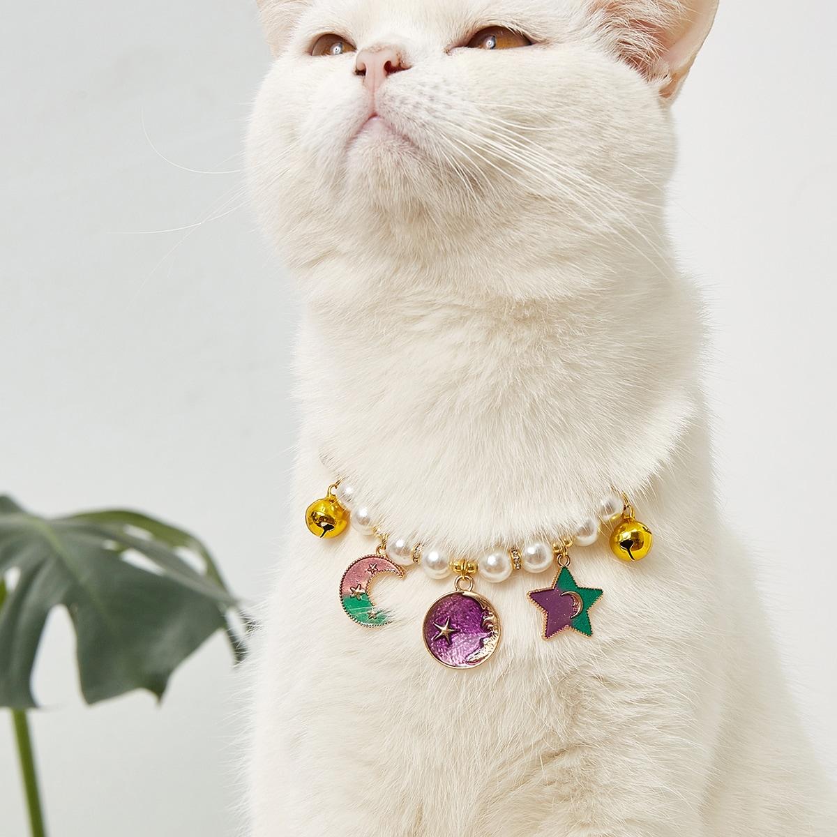 Halskette mit Kuntperle Dekor für Haustier