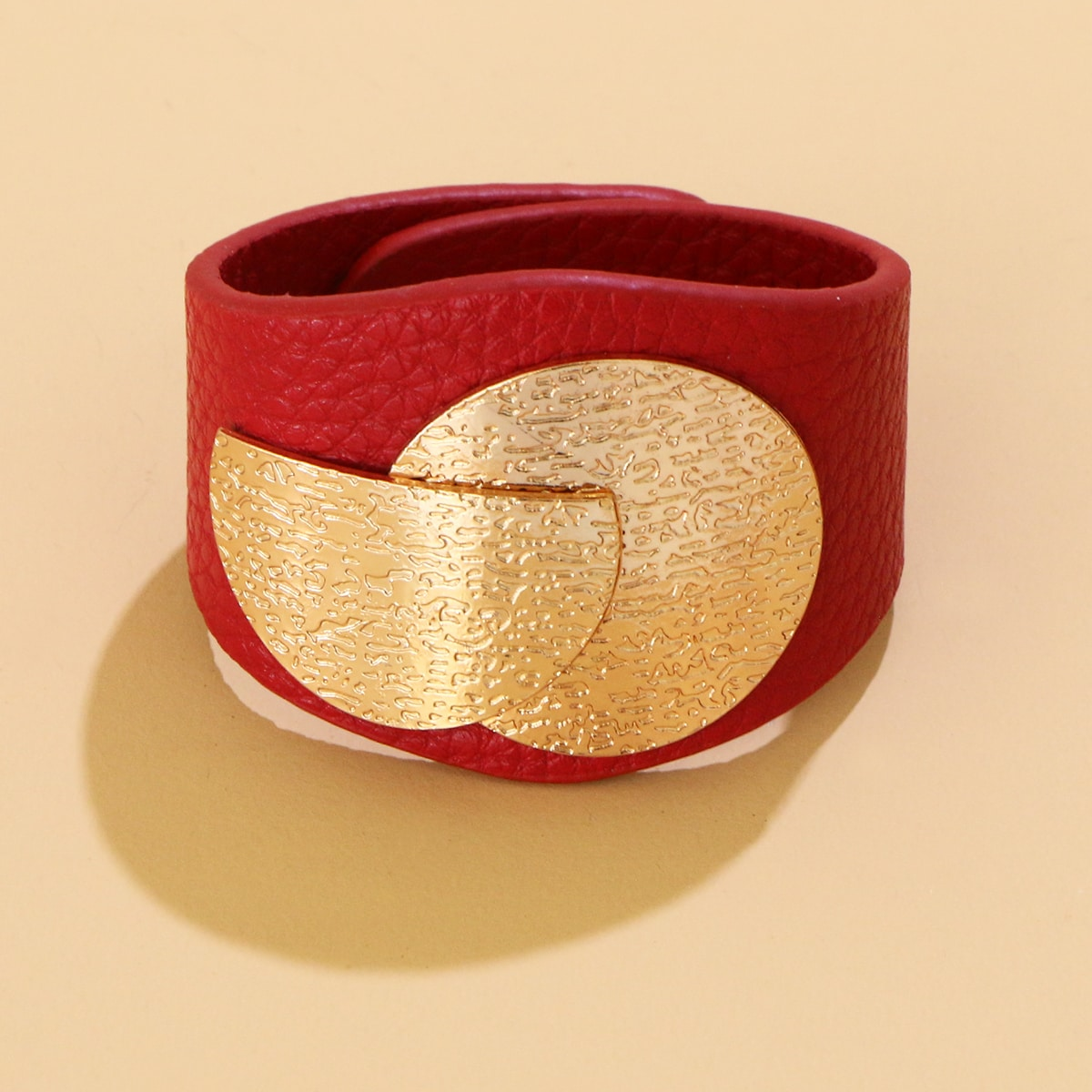 Metal Decor Wide Bracelet