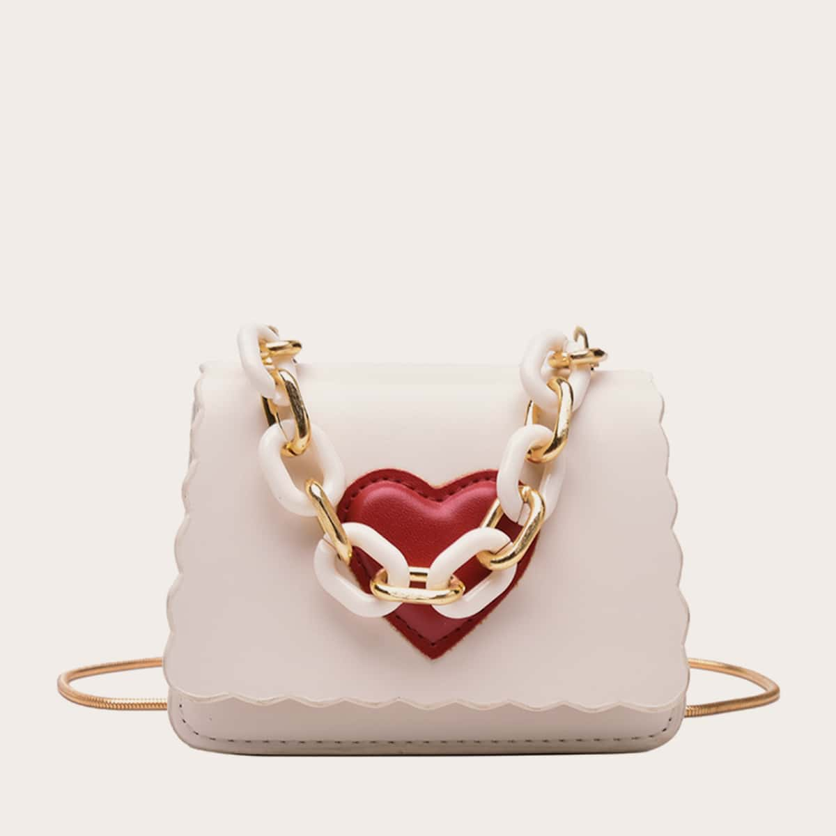 SHEIN / Mini Heart Pattern Chain Satchel Bag