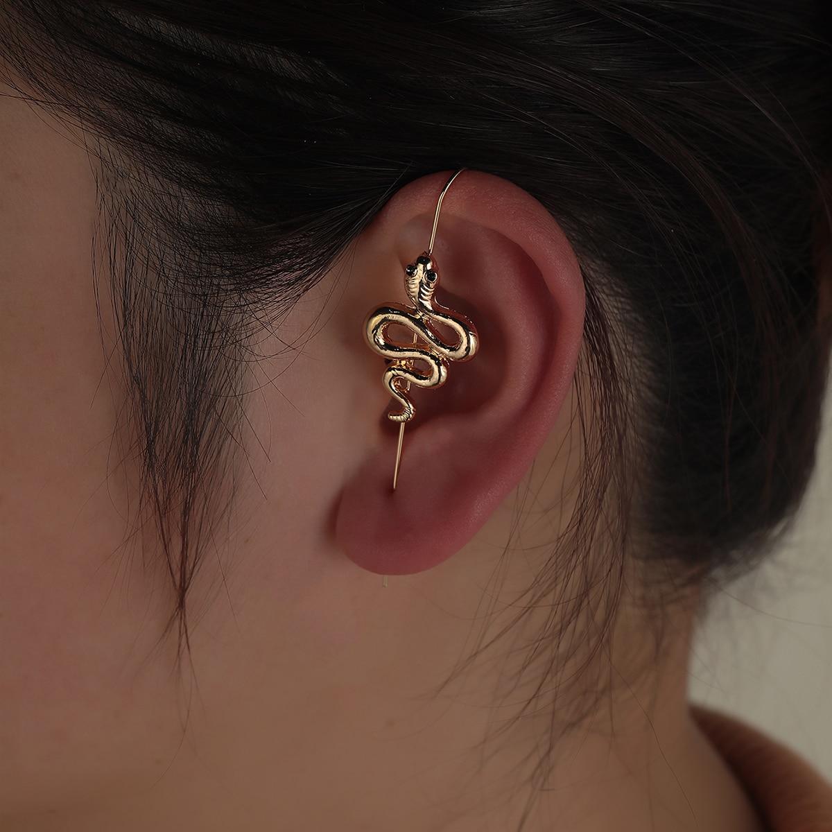 1 pièce Boucle d'oreille à serpentine