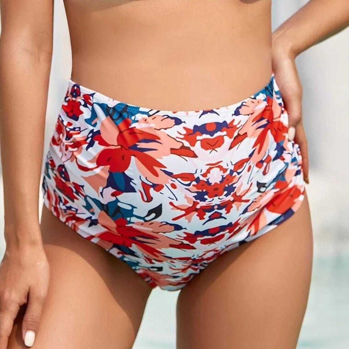 Umstandsmode Bikini Unterteil mit Blumen Muster