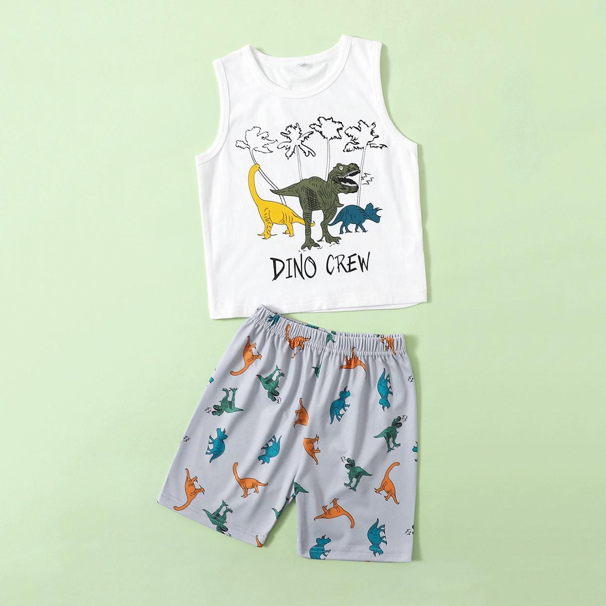Мультяшный принт Повседневный Домашняя одежда для мальчиков