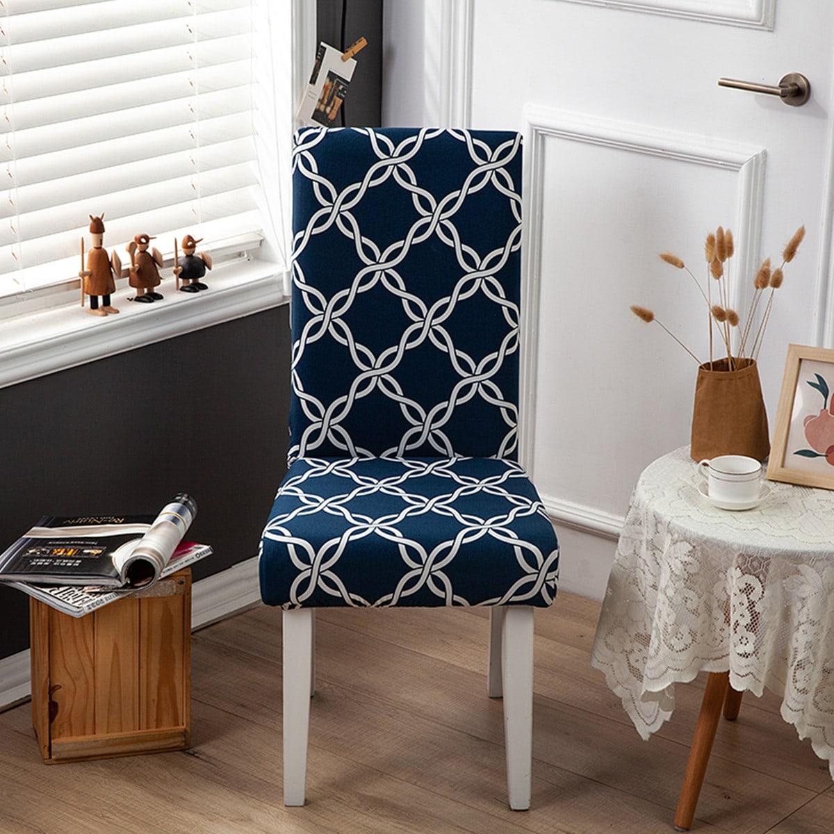 Эластичный чехол для стула с графическим принтом