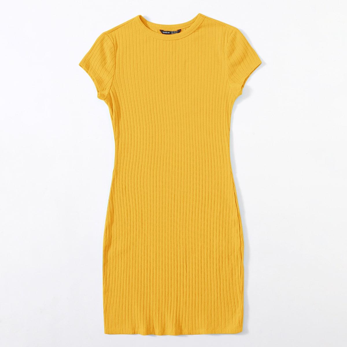 Вязаное платье в рубчик SheIn swdress07210310478
