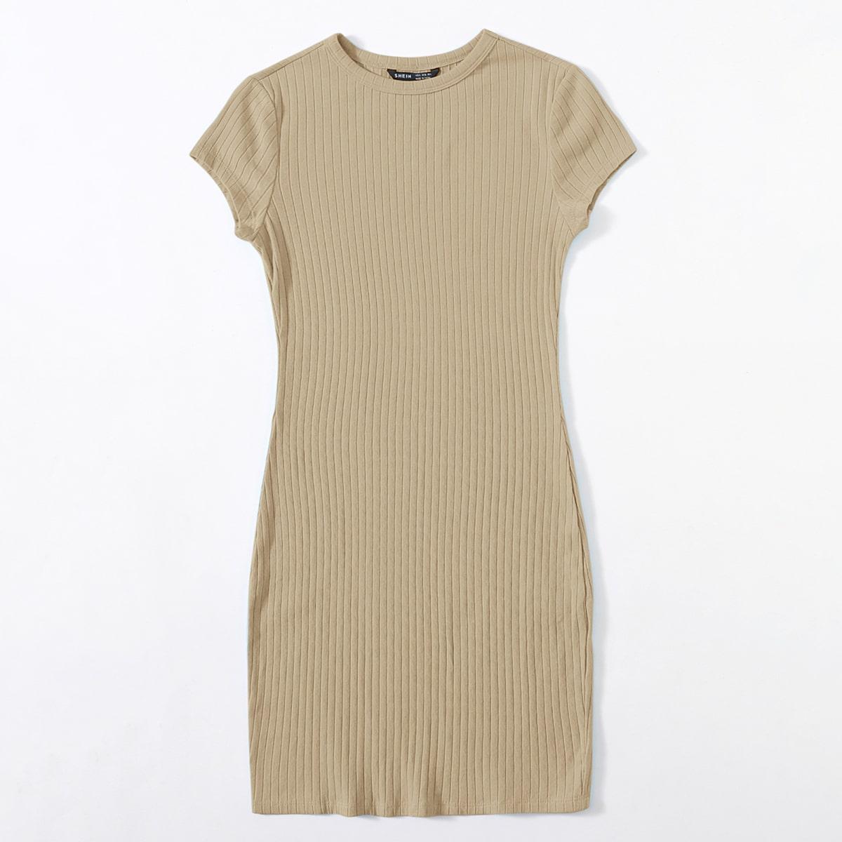 Вязаное платье в рубчик SheIn swdress07210310555