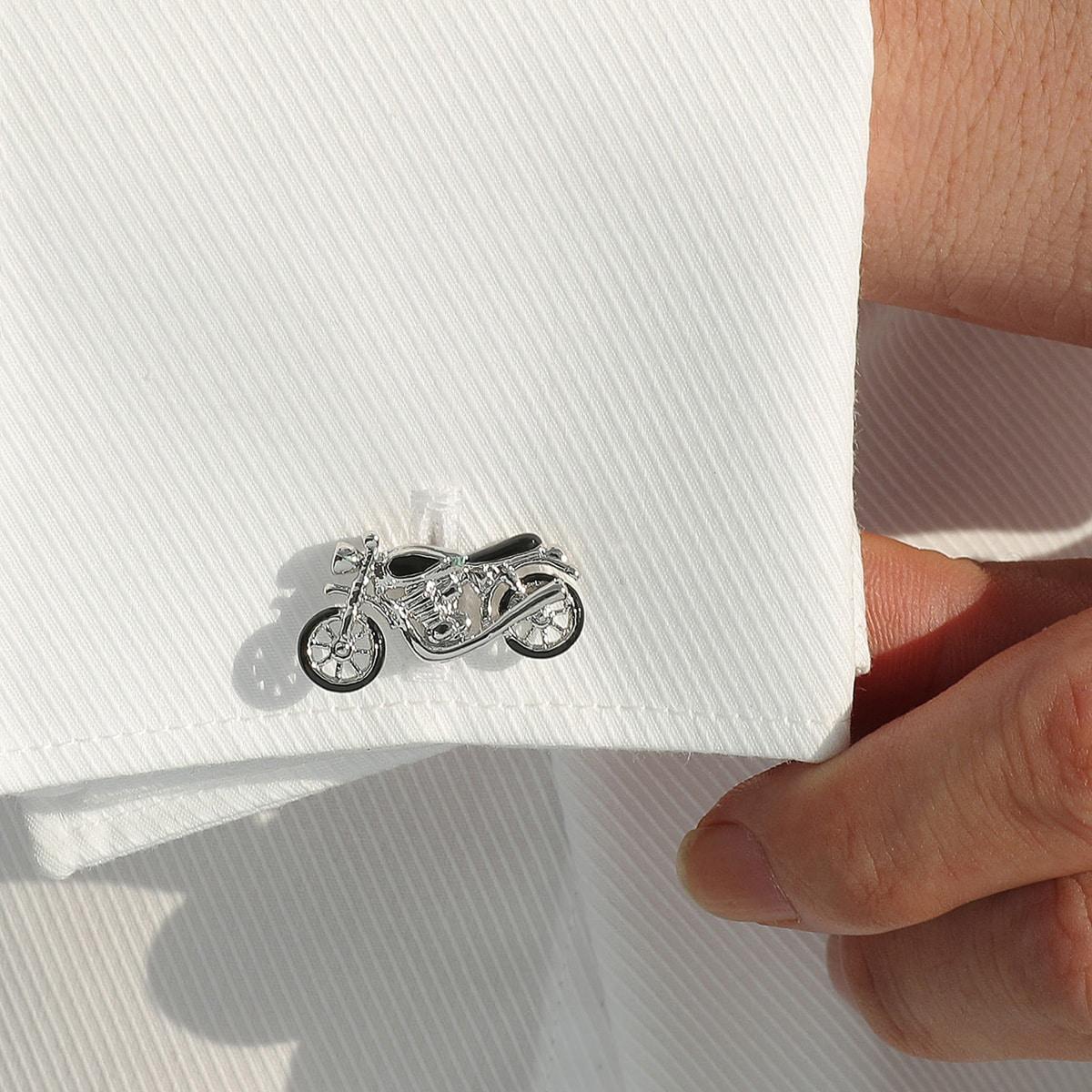 Männer Manschettenknöpfen mit Motorrad Design