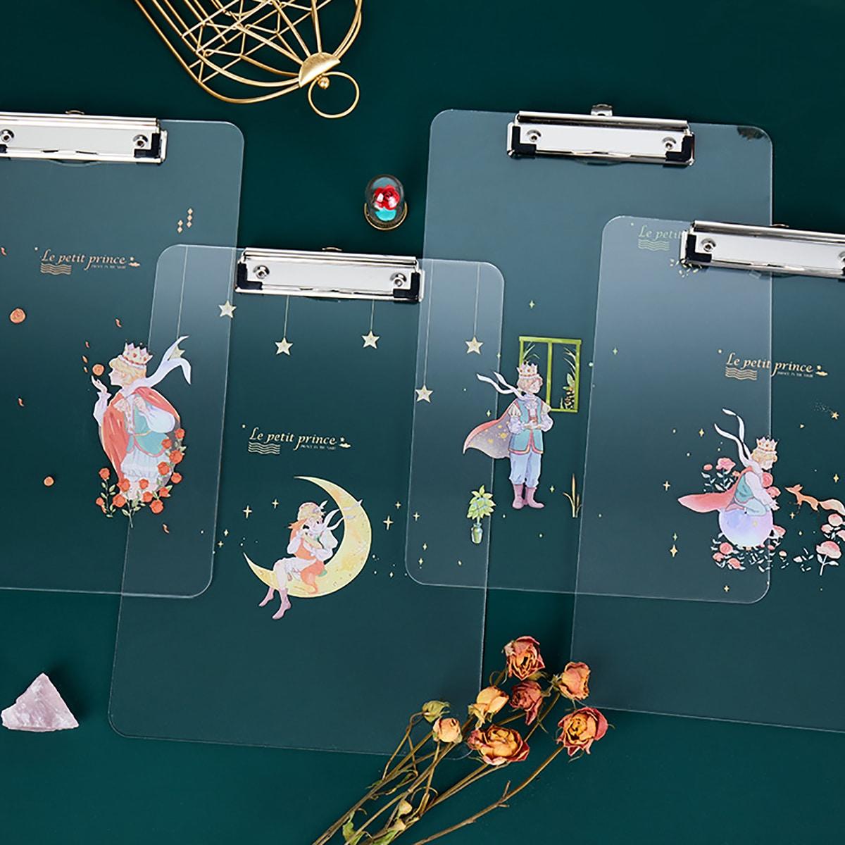 1шт случайная папка-планшет с мультипликационным принтом