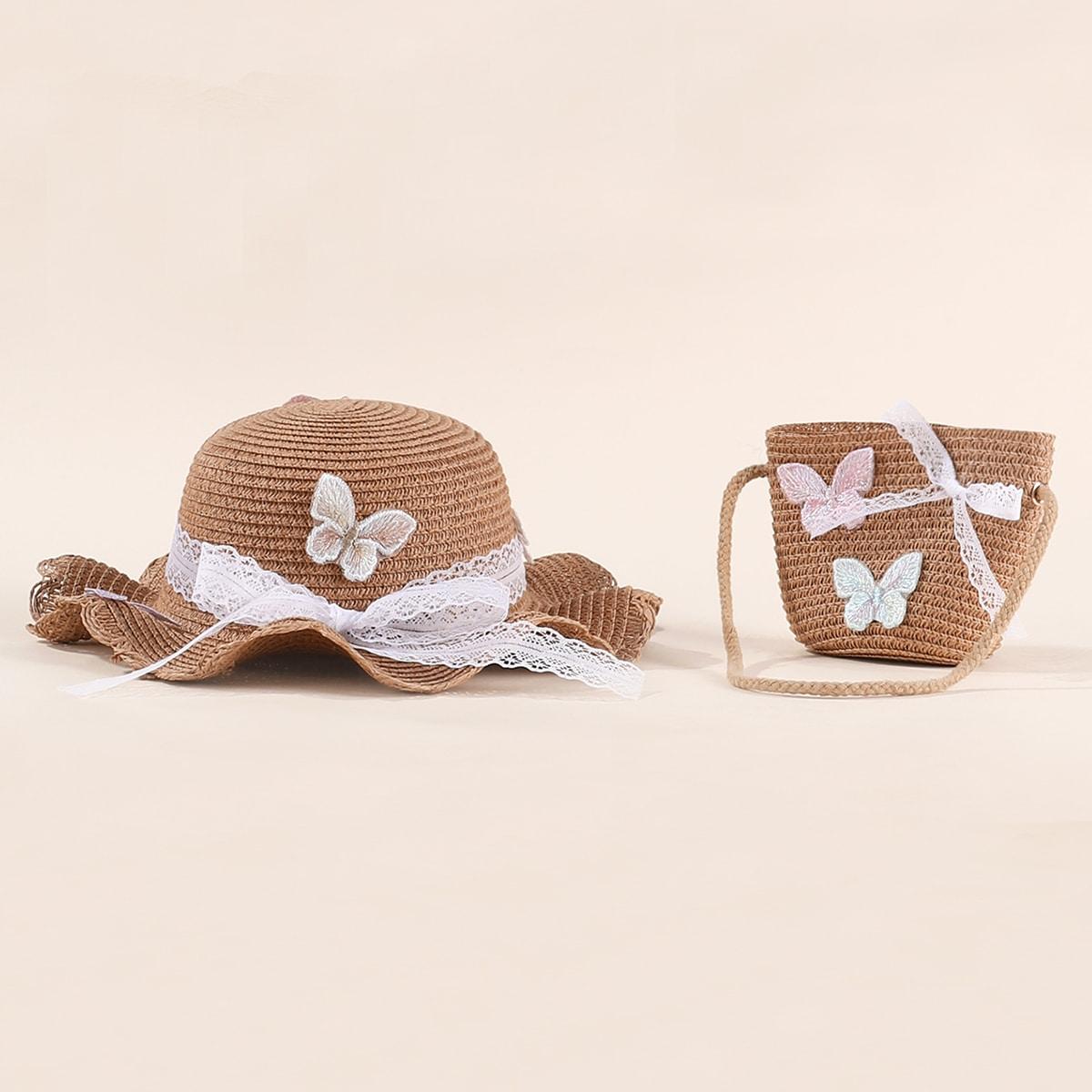 1 Stück Kleinkind Mädchen Hut & 1 Stück Tasche