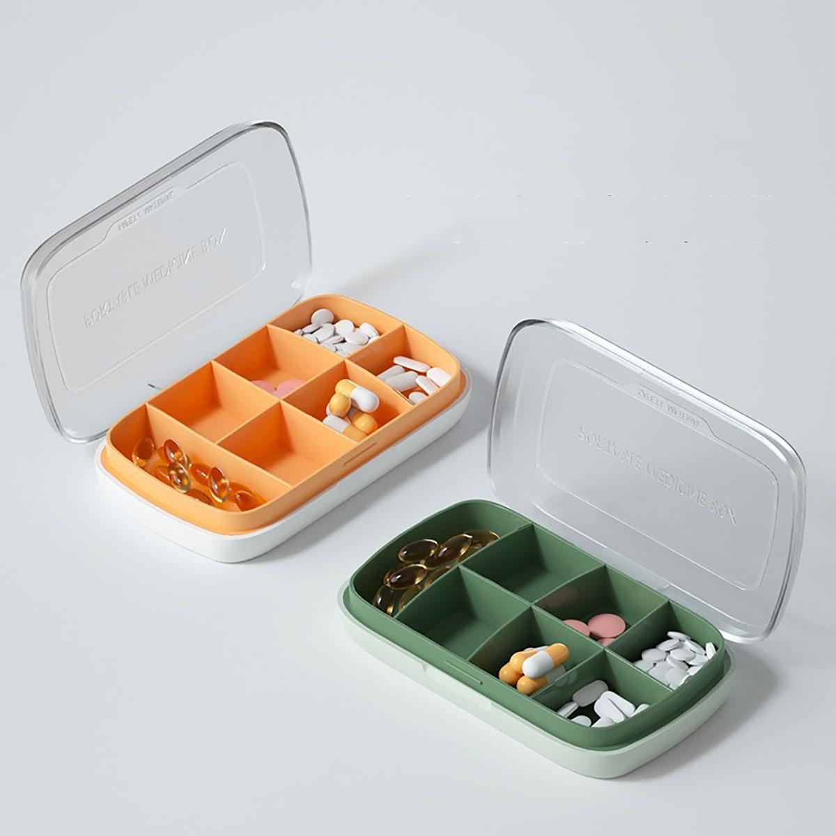 1шт коробка для таблеток случайного цвета