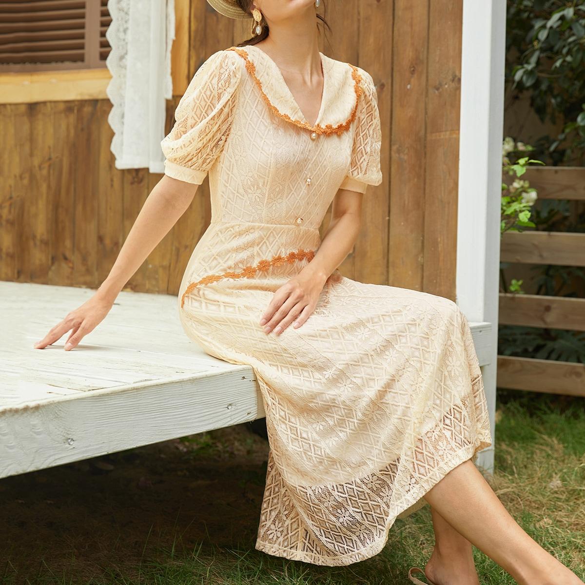 Пуговица Винтажный Платье SheIn swdress07210305311