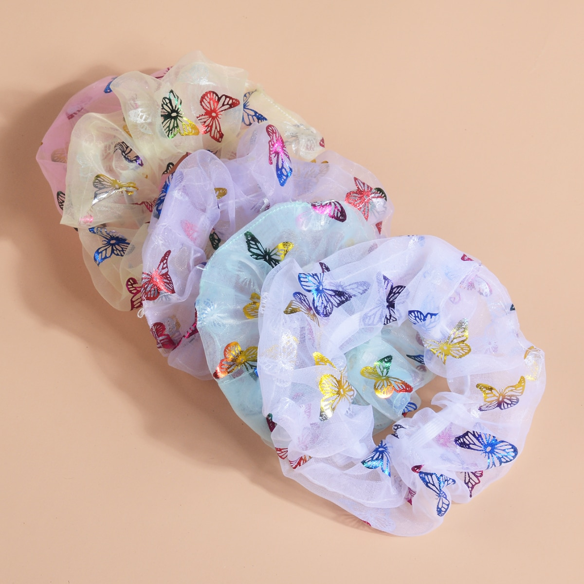 5 Stücke Kleinkind Mädchen Haargummi mit Schmetterling Muster