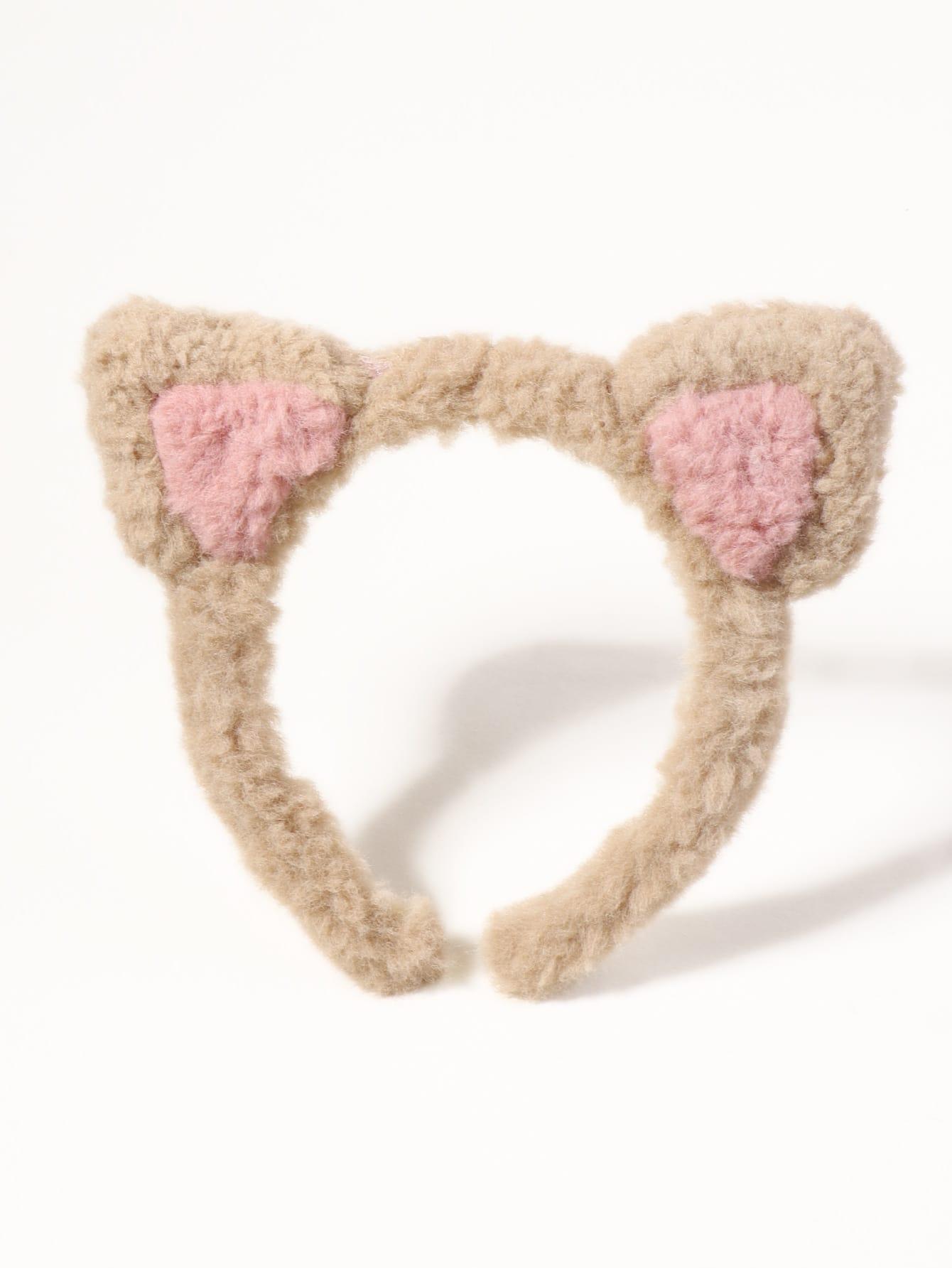 Fuzzy Ear Decor Headband